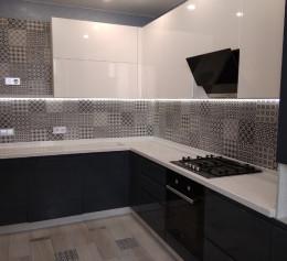 Угловая кухня Пластик №2269