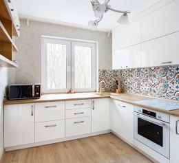 Угловая кухня Пластик №2255