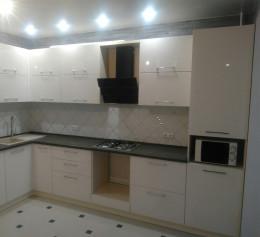 Угловая кухня Пластик №2274