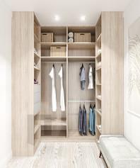 Дизайн проект маленькой гардеробной комнаты