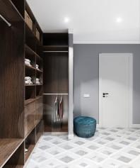 Гардеробная в маленьком коридоре