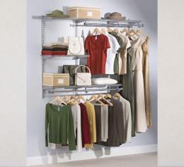 Модульный стеллаж для гардеробной в спальне