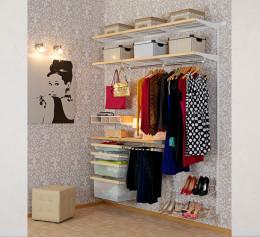 Готовая гардеробная система недорогая угловая