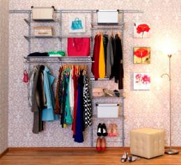 Сетчатая система хранения вещей в гардеробной