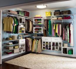 Системы хранения вещей для гардеробной комнаты на 3 кв м