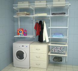 Гардеробная система со стиральной машиной
