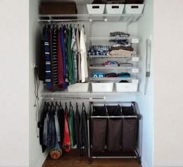 Готовые гардеробная система с быстрым монтажом в кладовую