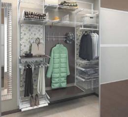 Модульная гардеробная система металлическая в прихожей
