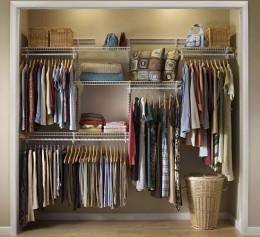 Металлическая система хранения для гардеробной в нишу