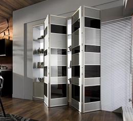 Складные двери для встроенного шкафа