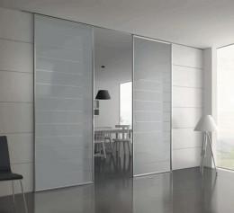 Дверь купе межкомнатная матовое стекло