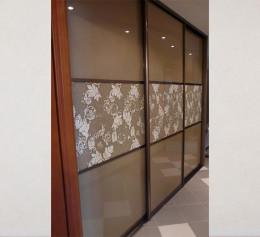 Двери купе со вставкой стекло