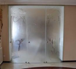 Матовые двери купе