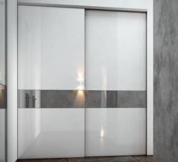 Двери межкомнатные купе зеркало