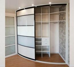 Радиусная дверь для шкафов белый глянец