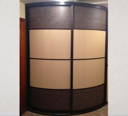 Радиусная дверь для шкафов с кожей
