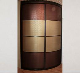 Радиусная дверь для шкафов в темном цвете