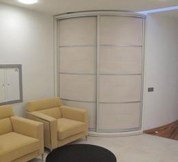Радиусная дверь купе для шкафы