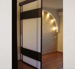 Двери купе для гардеробной в спб с зеркалом