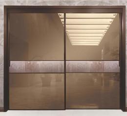 Двери купе в нишу в коридоре