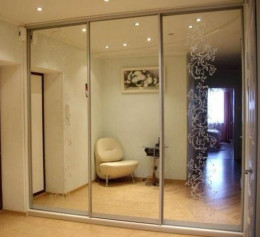 Двери для шкафа купе с зеркалом
