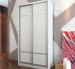 Белый шкаф купе с зеркалом двухстворчатый