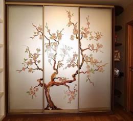 Шкаф купе фотопечать дерево