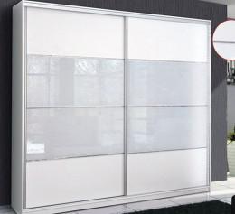 Шкаф купе корпусный белый глянец
