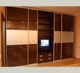 Шкаф купе корпусный с телевизором