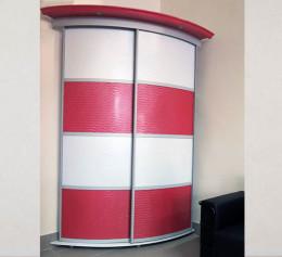 Радиусный шкаф купе угловой радиальный глянцевый