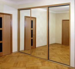 Шкаф купе трехстворчатый с зеркалом с пантографом