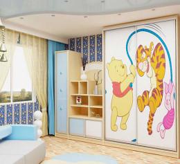 Детские комнаты со шкафом купе