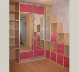 Шкаф купе в детскую комнату из ЛДСП