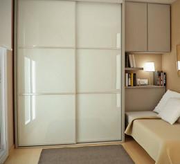 Компактный шкаф купе в спальню