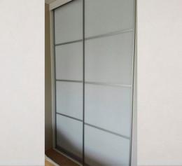 Шкаф купе в спальню вместительный белый