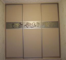 Встроенный шкаф купе ясень шимо