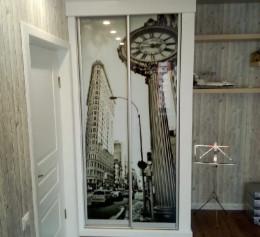 Двери купе с фотопечатью на стекле |1296