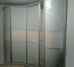 Радиусный шкаф в спальне | 1299