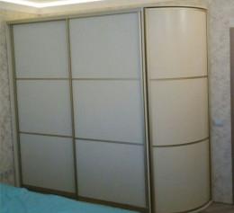 Шкаф купе с распашной радиусной дверью  |1302