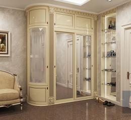 Классические угловые шкафы для гостиной