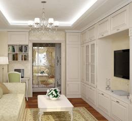 Гостинные шкафы в классическом стиле