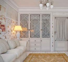 Шкаф в гостиную в стиле прованс