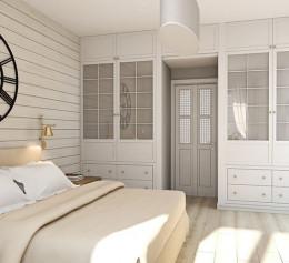 Белый шкаф в скандинавском стиле