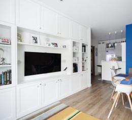 Шкафы в гостиную в скандинавском стиле