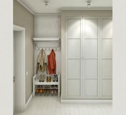 Шкаф для одежды в скандинавском стиле