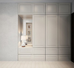 Шкаф в скандинавском стиле в спальню
