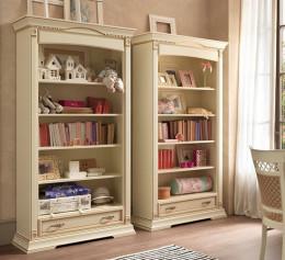 Книжный шкаф слоновая кость