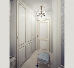 Шкаф в коридор в классическом стиле