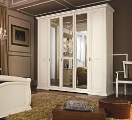 Шкаф классический с распашными дверями белый