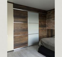 Шкаф 3 дверный с ящиками лофт